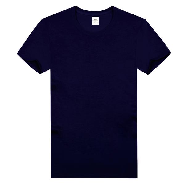 纯棉精梳文化衫  藏蓝