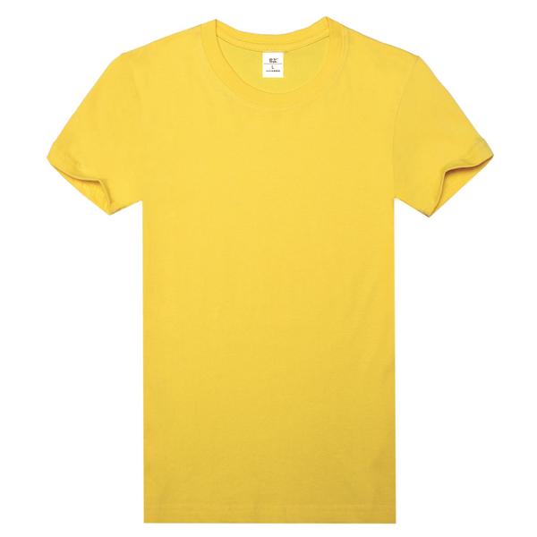 纯棉精梳文化衫  黄色