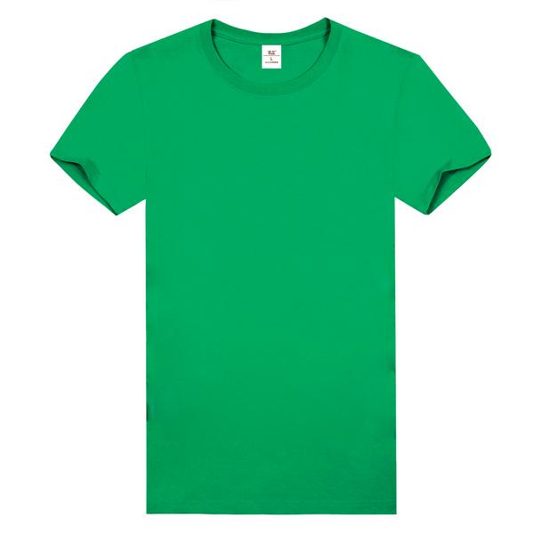 纯棉精梳文化衫  草绿