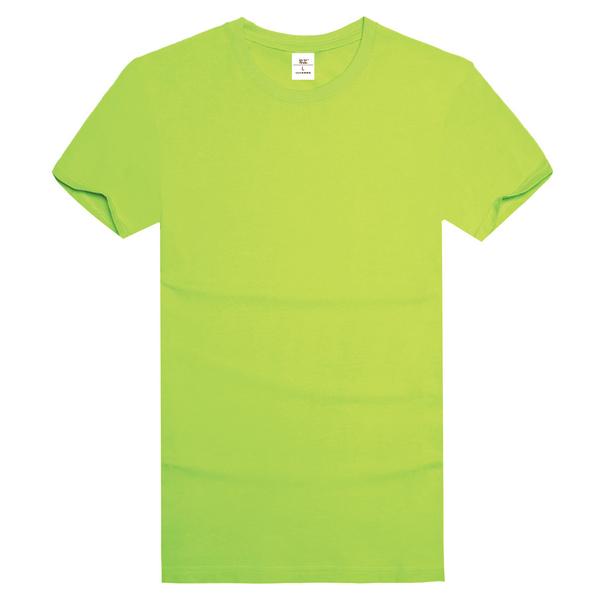 纯棉精梳文化衫  果绿