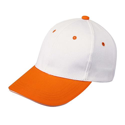 桔色纯棉棒球帽可刺绣logo